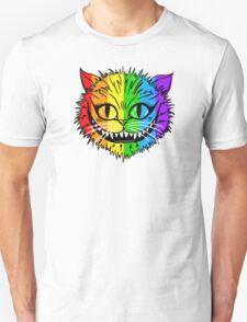 Rainbow Cheshire Cat Unisex T-Shirt