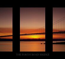 Sunset over the River Forth, Scotland. by Aj Finan
