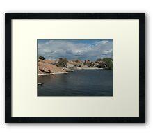 Water Line- Willow Lake, AZ Framed Print