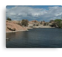 Water Line- Willow Lake, AZ Canvas Print