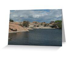 Water Line- Willow Lake, AZ Greeting Card