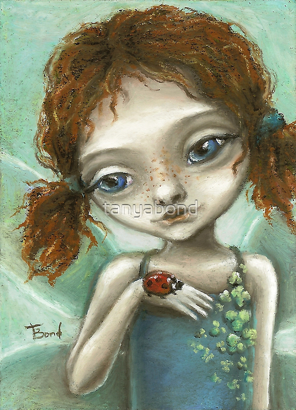 Irish Pixie - beautiful little fairy and a ladybird  by tanyabond