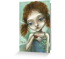 Irish Pixie - beautiful little fairy and a ladybird  Greeting Card