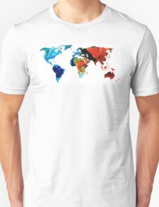 Map of The World 3 -Colorful Abstract Art T-Shirt