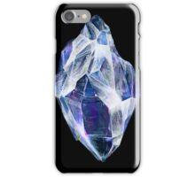 Blue Crystal (Black Background) iPhone Case/Skin