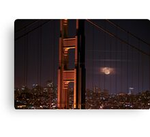 The Moon and The Bridge Canvas Print