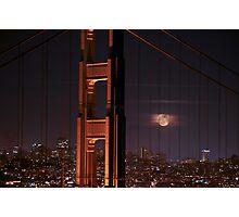 The Moon and The Bridge Photographic Print