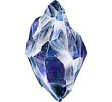 Blue Crystal Photographic Print