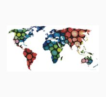 Map of The World 1 -Colorful Abstract Art Kids Clothes