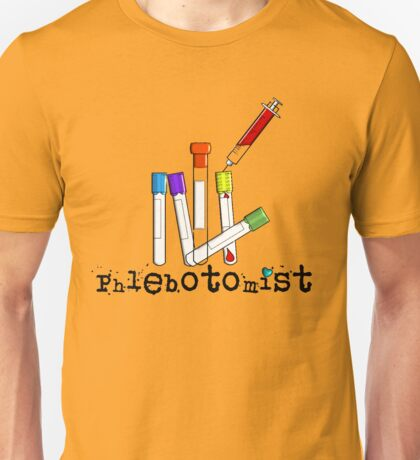 Phlebotomist Vacutainer Art Unisex T-Shirt