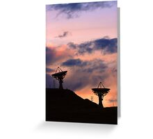 Colorful Sunset Communications Greeting Card