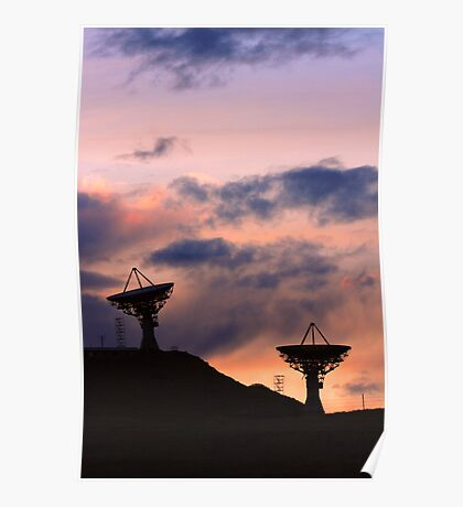 Colorful Sunset Communications Poster