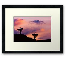 Dishy Sunset Framed Print