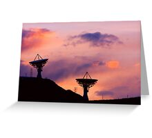 Dishy Sunset Greeting Card