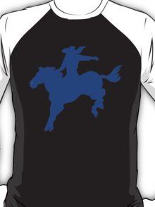 Blue western bucking bronco cowboy T-Shirt