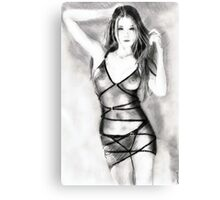 another girl... in pencil Canvas Print