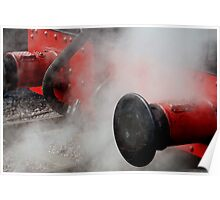 Locomotive bumpers in Steam Poster
