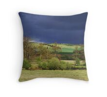 Rainclouds, Railways and Reedbeds Throw Pillow