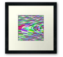 Stretched Colorful Blocks Framed Print