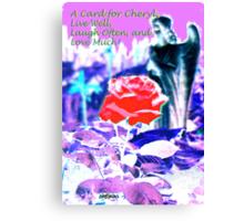 A Card for Cheryl Fugate Canvas Print