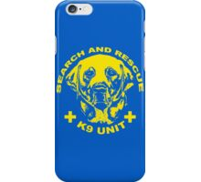 Search and rescue K9 unit yellow iPhone Case/Skin