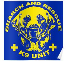 Search and rescue K9 unit yellow Poster