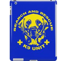 Search and rescue K9 unit yellow iPad Case/Skin