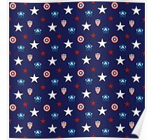 Star Spangled Pattern: Captain America Poster
