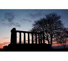 Sunset Over Calton Hill Photographic Print