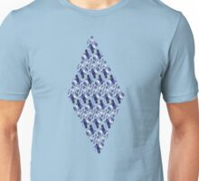 Blue Crystals Pattern Unisex T-Shirt
