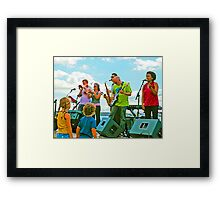 Kids love music Framed Print