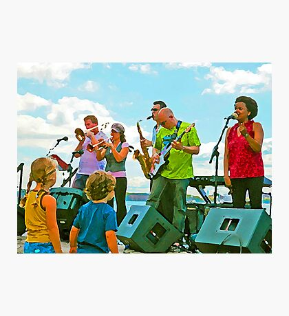 Kids love music Photographic Print