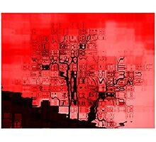 Ciel rouge Photographic Print