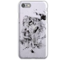 Contraintes et Abandon #3 - Monotype on Wenzhou Paper + pieces of paper sewn iPhone Case/Skin