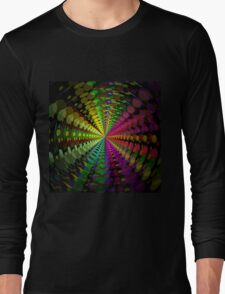 Abstract / Psychedelic Radial Pattern Long Sleeve T-Shirt