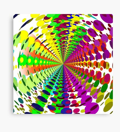 Abstract / Psychedelic Radial Pattern Canvas Print