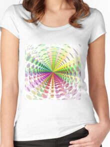Abstract / Psychedelic Radial Pattern Women's Fitted Scoop T-Shirt