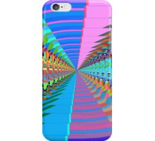 Abstract / Psychedelic Tunnel of Colorful Shapes iPhone Case/Skin