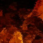 Molten Red & Gold Lava Horizontal by Danny Drexler