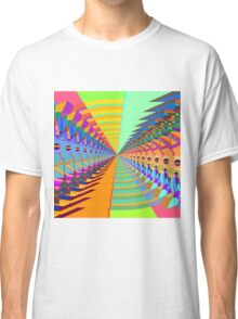 Abstract / Psychedelic Tunnel of Colorful Shapes Classic T-Shirt