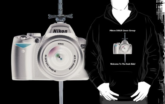 Nikon D60 Welcome to the Dark Side - Nikon DSLR Users Group Shirt by Paul Gitto