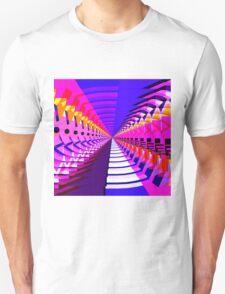 Abstract / Psychedelic Radial Pattern Unisex T-Shirt
