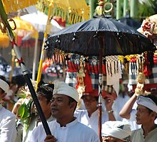 Balinese ritual procession by Michael Brewer