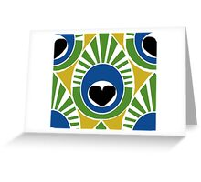 Peacock Pattern Greeting Card