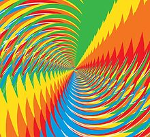 Abstract / Psychedelic Spiral Pattern by bradyarnold