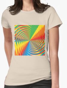 Abstract / Psychedelic Spiral Pattern Womens Fitted T-Shirt