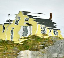 The Yellow House in Nova Scotia by Barbara Burkhardt