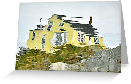 The Yellow House in Nova Scotia by Barbara Burkhardt