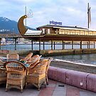 Summer cafe in expectation of morning visitors by kindangel