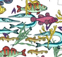 Magical underwater world. Sticker